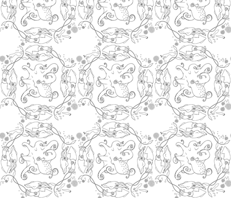 Cephalopod Lattice fabric by robynie on Spoonflower - custom fabric