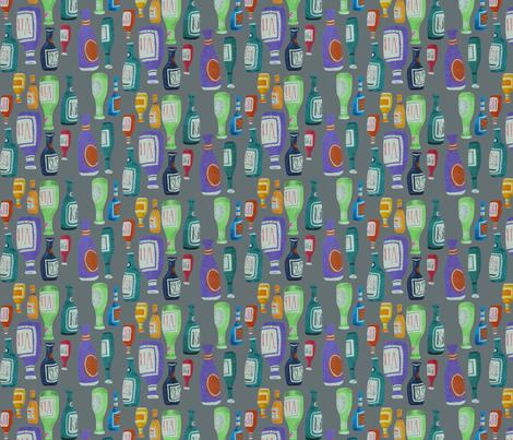 In Vino Veritas (grey) fabric by johnandwendy on Spoonflower - custom fabric