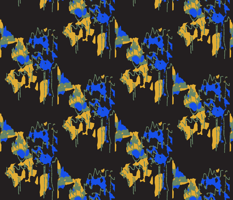 Night Trees/#SFDesignADay - 3 fabric by menny on Spoonflower - custom fabric