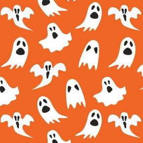 Ghosts on Orange // Halloween Collection