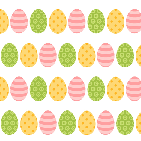 Easter Eggs fabric by sunshineandspoons on Spoonflower - custom fabric