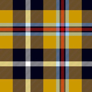 Cornish national tartan - warmer yellow