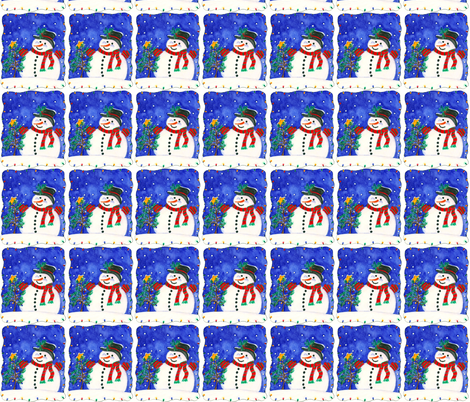 Snowman fabric by littleislandcompany on Spoonflower - custom fabric