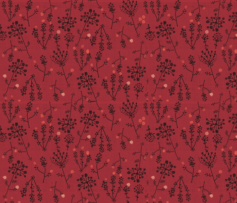 Thistle Spice fabric by rachelle_caliolio_design on Spoonflower - custom fabric