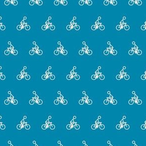 Cyclist in Blue