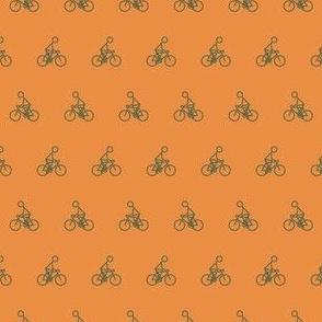 Cyclist in Orange