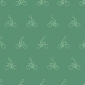 Cyclist in Muted Green