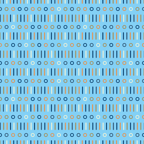 Sticks n Spots Mix on Blue fabric by seesawboomerang on Spoonflower - custom fabric