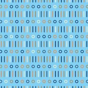 Sticks n Spots Mix on Blue