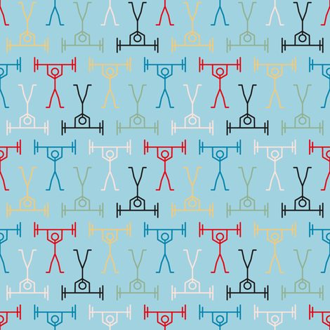 Weights Mix Poster fabric by seesawboomerang on Spoonflower - custom fabric