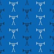 Weights Stripe on Blue