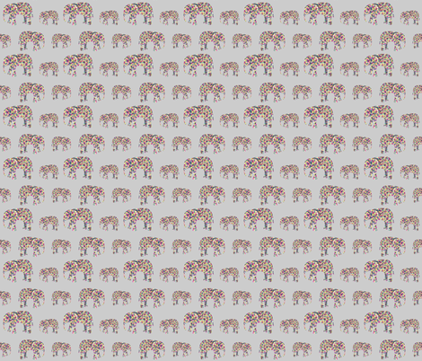 Colorful Elephant Collage fabric by elephant_trunk_studio on Spoonflower - custom fabric
