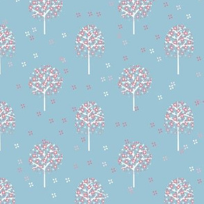 arbre Aurélie bleu doux