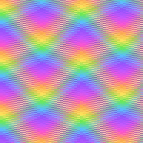 Wavy Rainbow Plaid 3