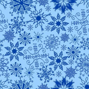 Blue Snowflake Wonderland