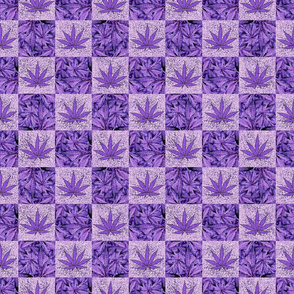 Purple Grunge Pot Squares