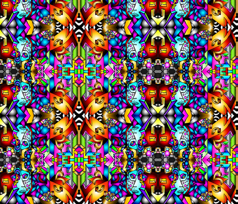Masked Illusions fabric by sashasjourney on Spoonflower - custom fabric