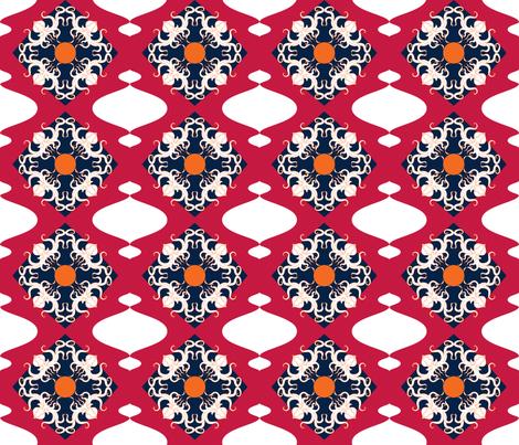 Cthulhu Diamonds Bermuda 2 fabric by alchemiedesign on Spoonflower - custom fabric