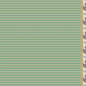 Purple_Fancy_Green_Stripe Tea Towel
