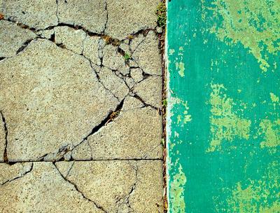 Aqua Cracked Concrete
