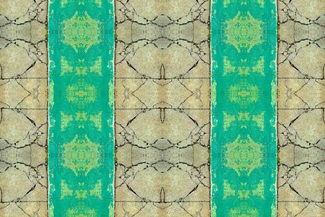 Aqua Cracked Concrete fabric by zwater on Spoonflower - custom fabric