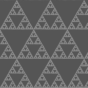Sierpinski Triangle in light neutral greys