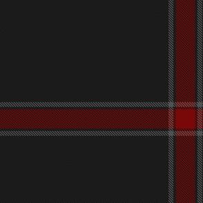 Red/White Stripes on Carbon Fibre