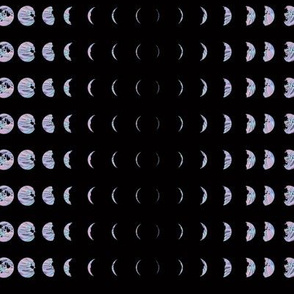 Holomoon Chart - Hologram Moon Lunar Phases on Black