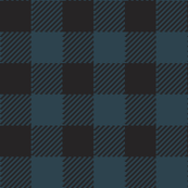 90's Buffalo Check Plaid in Black/Evergreen Forrest