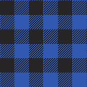 90's Buffalo Check Plaid in Black/Cobalt Dutch Blue