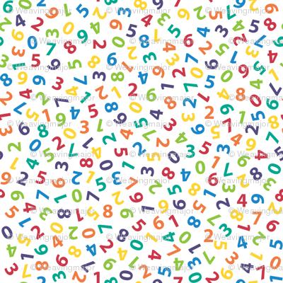 ditsy rainbow numbers