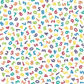 ditsy rainbow numbers