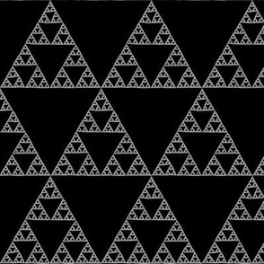 Sierpinski Triangle in white on black
