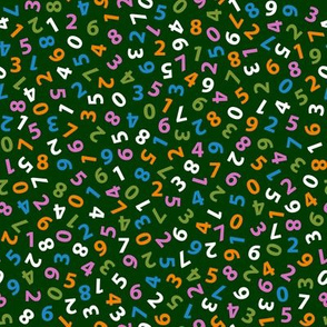 ditsy numbers in butterfly colors