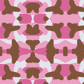 Pink Brown Camo Camouflage Woodland Hunting
