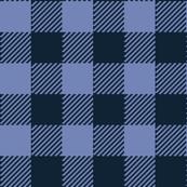 90's Buffalo Check Plaid in Light Blue/Dark Blue