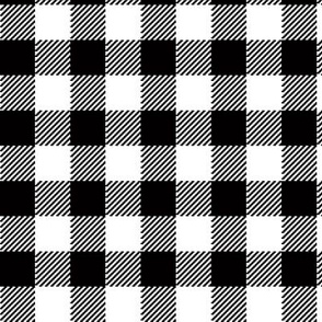 90's Buffalo Check Plaid in Black and White