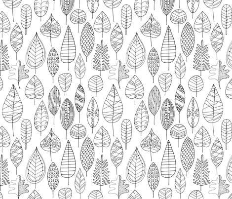 Falling Leaves fabric by snowflower on Spoonflower - custom fabric
