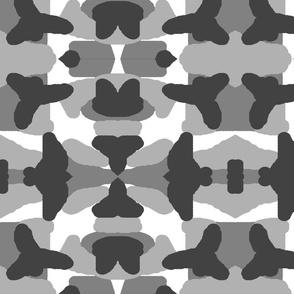 Grey Camo Camouflage Woodland Hunting