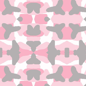 Pink Grey Gray Camo Camouflage Woodland Baby Girl