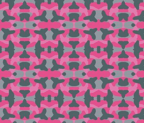 Hot Pink Grey Gray Camo Camouflage fabric - decamp_studios ...