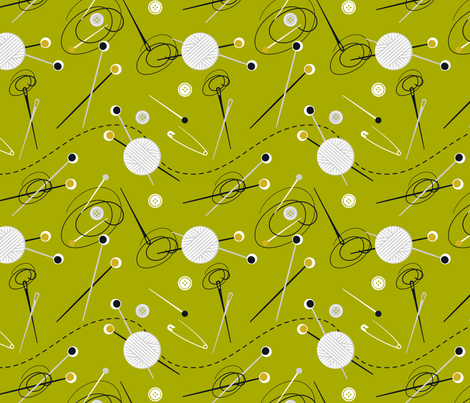 Knit green fabric by overbye on Spoonflower - custom fabric