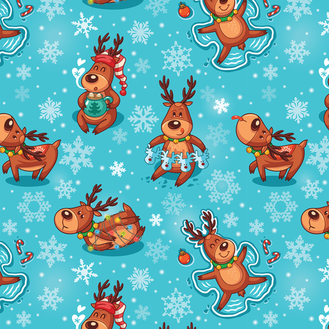 Christmas deers fabric by penguinhouse on Spoonflower - custom fabric