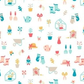 Garden stuff cartoon pattern