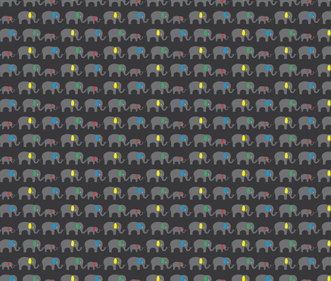 Elephant chain fabric by ilovecotton on Spoonflower - custom fabric