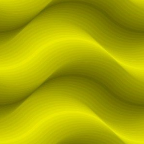billows : acid yellow olive green