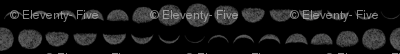 moon phases (grey on black)