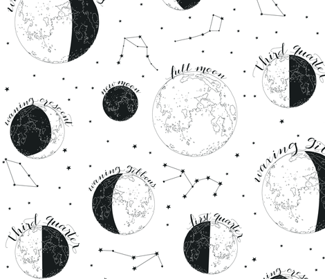 All Sides of the Moon fabric by gracebrian on Spoonflower - custom fabric