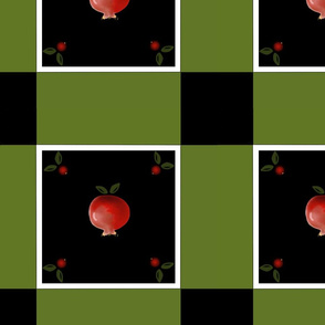 Pomegranate Tiles in Red, White, Black and Green