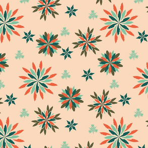 Retro-Modern Geometric Christmas Pattern